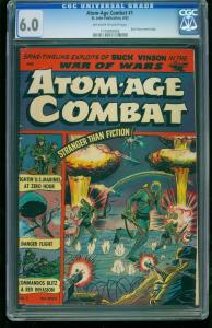 Atom-Age Combat #1-CGC 6.0- Atomic Explosion Cover- Southern States 1173076002