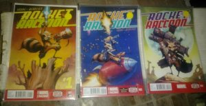 ROCKET RACCOON # 1 2 3 +rocket raccoon and groot #1 2015 MARVEL+ now guardians