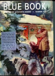 BLUE BOOK PULP-DEC 1949-VG/FN-WOODWARD COVER-ROBERT HEINLEIN-BRANDON-LAMB VG/FN