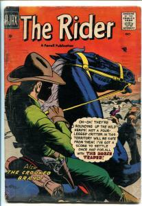 RIDER #4 1947-AJAX-SECRET IDENTITY-WESTERN-pr