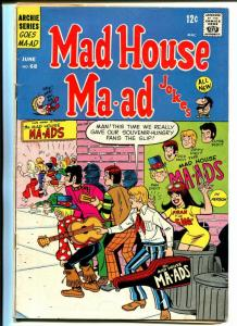 Mad House #68 1969-Archie-rock band cover-Fran The Fan-VG-
