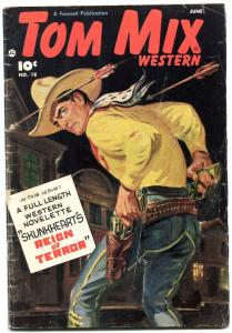 Tom Mix Western #18 1949- Norman Saunders- Golden Age Fawcett VG-