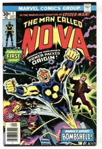 NOVA #1-MARVEL comic book BRONZE KEY-1976-1st issue VF/NM
