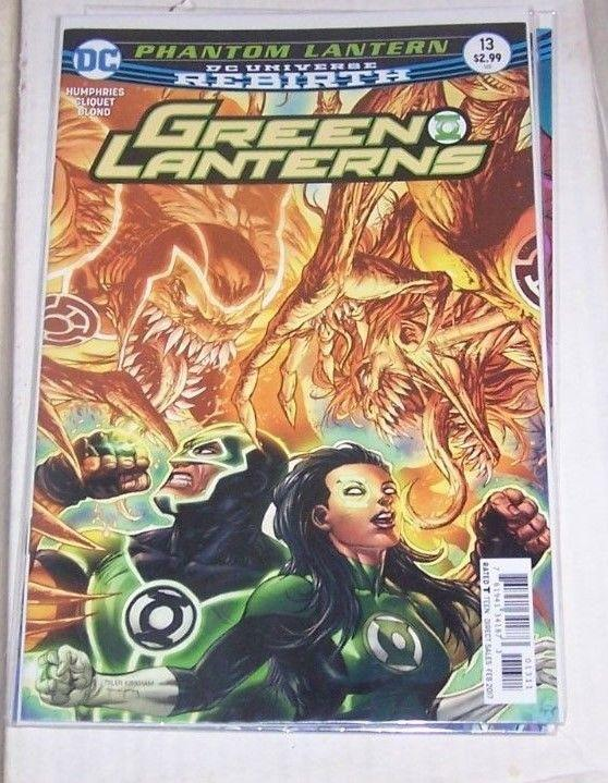 GREEN LANTERNS 13 FEB  2017 PHANTOM LANTERN  REBIRTH DC JESSICA CRUZ +SIMON BAZ