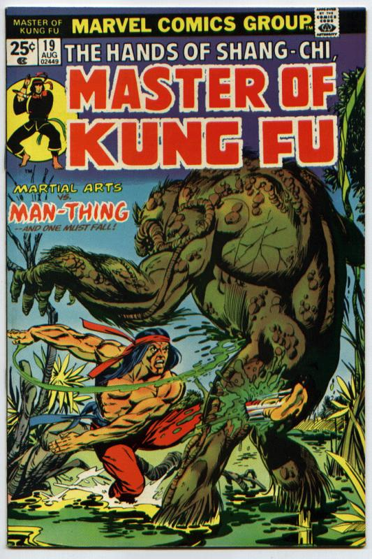Master of Kung-Fu #19 NM 9.4 Man-Thing [MOVIE]
