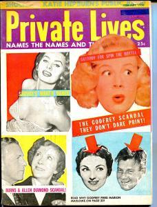 Private Lives 1/1956-exploitation-Sophia Loren-Godfrey-Marilyn-Joe DiMaggio-VG