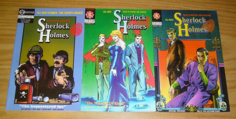 Sherlock Holmes: Tales of Mystery and Suspense #1-3 VF/NM complete series set 2