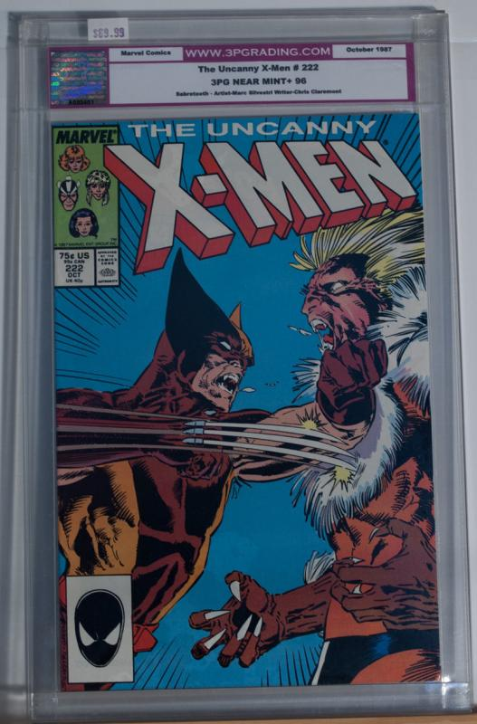 X-MEN #222, 3PG / CGC 9.6  NM+, Wolverine vs Sabretooth, Claws, more in store