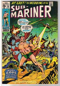 SUB-MARINER #36, VF-, Bernie Wrightson, Buscema, 1968, more in store