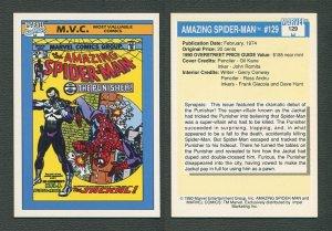 1990 Marvel Comics Card  #129 (Amazing Spiderman #129 Cover) NM-MT