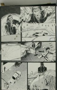 ISRAEL MUNIZ original published art, DARK FANTASIES 5, 11 x17,w/vell