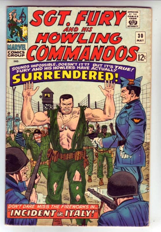 Sgt. Fury and His Howling Commandos #30 (May-66) FN+ Mid-High-Grade Sgt. Fury...