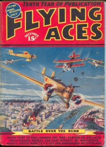 Flying Aces 12/1937-pulp-Capt Philip Strange-August SchomburgMcWilliams-VG