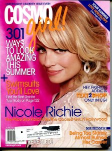 Cosmo Girl 7/2006-Nicole Richie cover-summer love horoscope-fashion-FN/VF