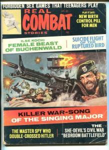 REAL COMBAT STORIES-APR 1968-NORMAN SAUNDERS-HITLER-CIVIL WAR-WWII-vg