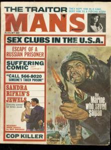 MAN'S MAGAZINE AUG 1966-WW 2-COP KILLER-ART CARNEY-PULP FN
