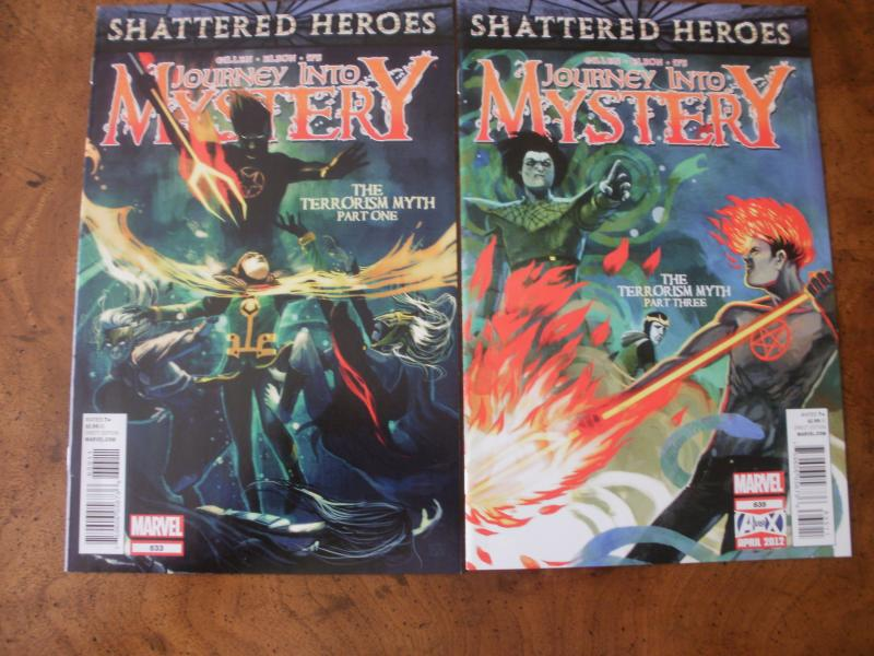 Journey Into Mystery #633 #635 (Marvel) Shattered Heroes 2012