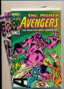 Marvel Set of 3-THE AVENGERS#244-246  VF(PF761)