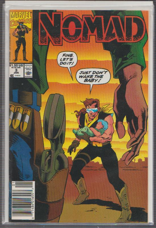 NOMAD #3 - MARVEL COMICS, BAGGED,& BOARDED
