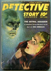 Detective Story Pulp September 1939-Astral Assassin- VG