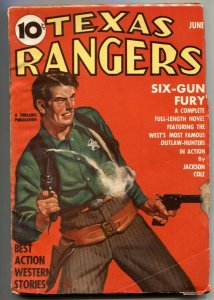 Texas Rangers Pulp June 1940- Six-Gun Fury VG/F