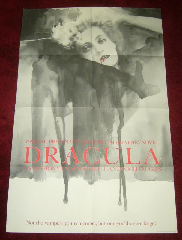 Dracula poster by jon j. muth - symphony in moonlight - marvel 1986 rare