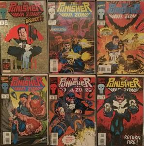 PUNISHER WAR ZONE (MARVEL)#16,17,19,21,22,26 6 BOOK LOT ALL UNREAD NM CONDITION