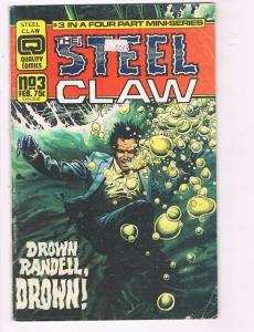 Steel Claw #3 GD/VG Quality Comics Drown Randell Drown Comic Book DE7