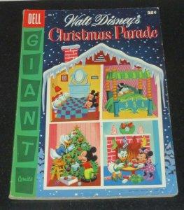 Walt Disney's Christmas Parade #7 VG+ 1955 Golden Age Cartoon Comic Pop Culture