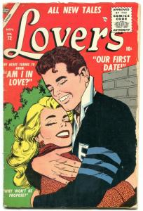 Lovers #72 1955- Atlas Romance Comic -Colletta cover G/VG