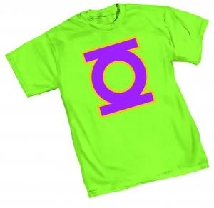NEO-GREEN LANTERN SYMBOL T-SHIRT X-LARGE GRAPHITTI DESIGNS NEW