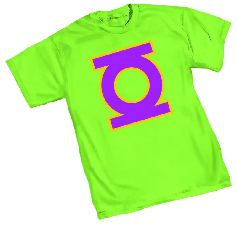 NEO-GREEN LANTERN SYMBOL T-SHIRT LARGE GRAPHITTI DESIGNS NEW