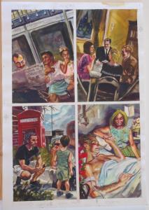 DAN BRERETON original art, Watercolor, DREAD #1 pg 1, Clive Barker, 14x20, 1992