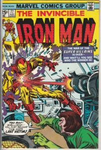 Iron Man #77 (Aug-75) VF High-Grade Iron Man