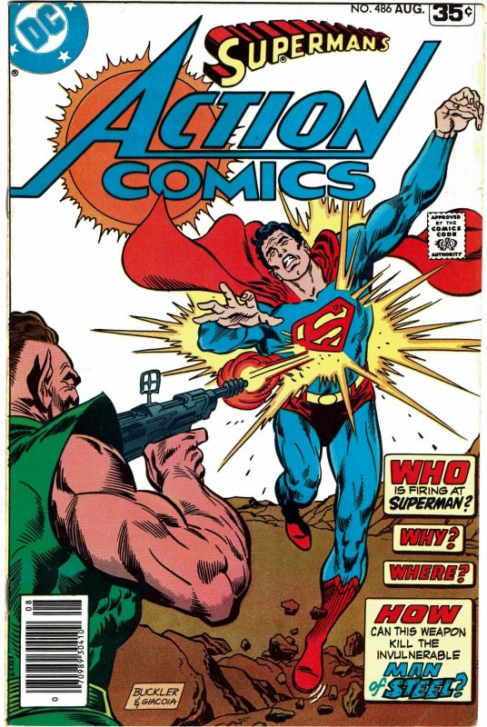 Action Comics #486 - Superman VF+