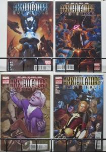 ANNIHILATORS EARTHFALL (Marvel, 2011) #1-4 VF-NM Abnett/Lanning Groot/Rocket!
