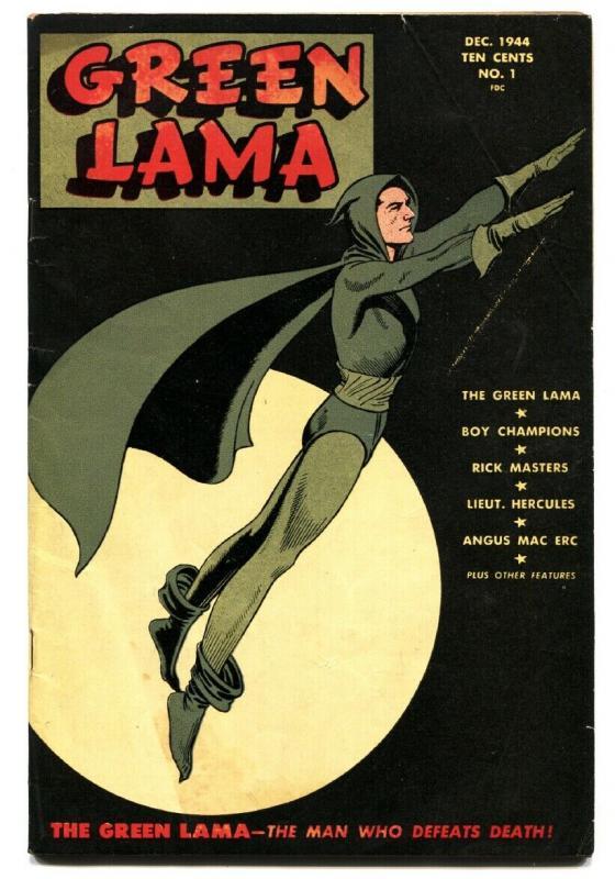 GREEN LAMA #1-1944-SPARK-WWII-MAC RAYBOY-comic book VG/FN