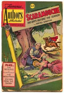 Famous Authors Illustrated #13 1951- Scaramouche- Sabatini FAIR