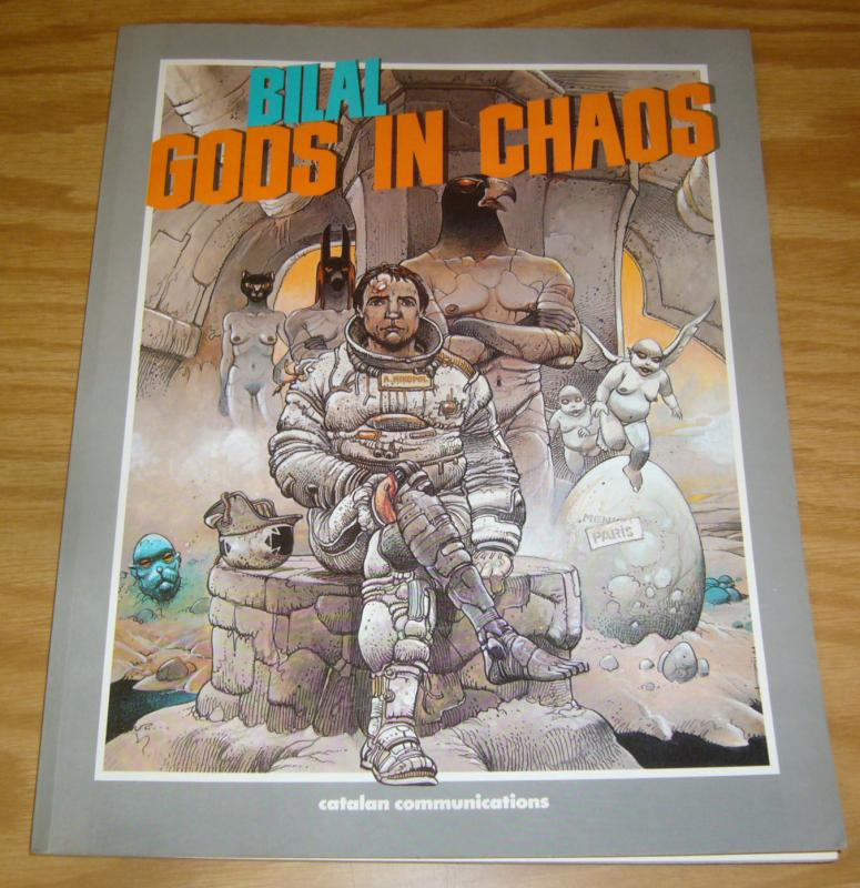 Gods in Chaos SC VF/NM bilal - catalan graphic novel - 1st printing 1987 rare