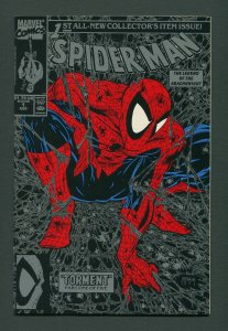 Spiderman #1 (Black Cover/McFarlane) 9.8 NM-MT  August 1990