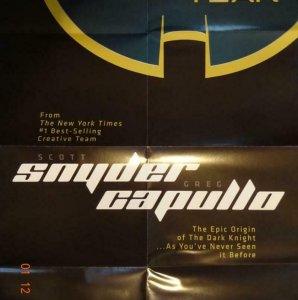 Batman ZERO YEAR Promo Poster, 22 x 33.5, 2013, DC Unused more in our store 443