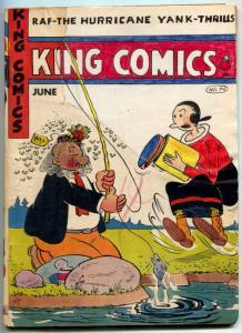 King Comics #74 1942- Popeye- Lone Ranger- Flash Gordon restored