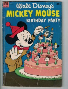 Walt Disney's Mickey Mouse Birthday Party #1 Dell Giant 1953 - golden age comic