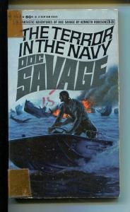 DOC SAVAGE-THE TERROR IN THE NAVY-#33-ROBESON-G-JAMES BAMA COVER-1ST EDITION G
