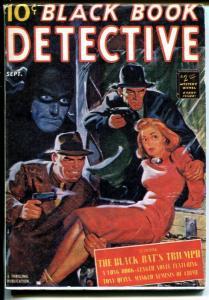 Black Book Detective 9/1940-reprint-Hanos-5 X &-Black Bat's Triumph-VF