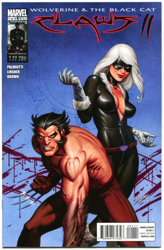 CLAWS #3 Vol 2, NM, Joseph Linsner, Wolverine, Black Cat, 2011,more JML in store