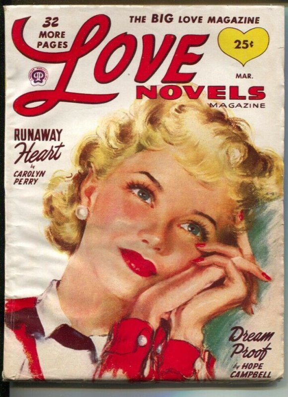 Love Novels 3/1949-pin-up girl cover-female pulp fiction authors-VG/FN