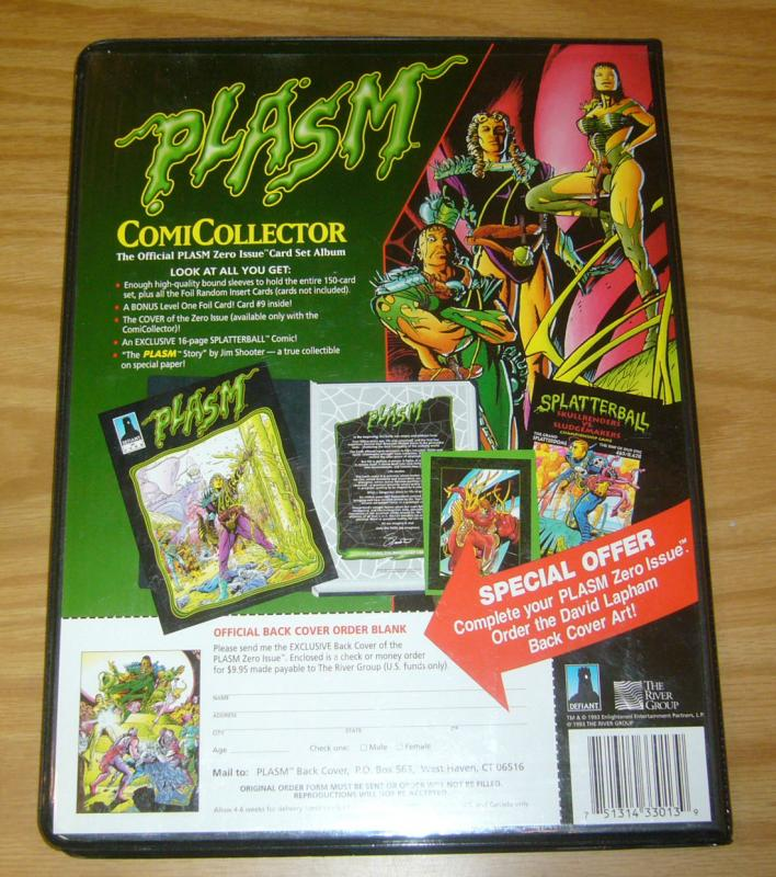 Warriors of Plasm #0 VF/NM binder with 150 cards + comic - second edition