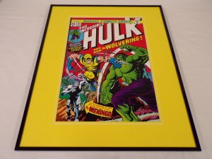 Incredible Hulk #181 Framed 16x20 Cover Poster Display Wolverine Wedigo