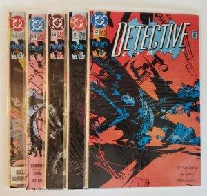 DC Batman Detective Comics #631, 634, 635, 636, 659 Comic Book Lot (5) NM 9.4